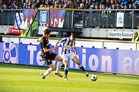 VOETBAL: HEERENVEEN: Abe Lenstra Stadion, SC Heerenveen - Vitesse, 21-01-2012, Marco van Ginkel (#8), Oussama Assaidi (#22), Eindstand 1-1, ©foto Martin de Jong