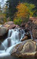 On South Boulder Creek in Eldorado Canyon State Park, near Boulder, CO.  The water was not the only thing moving on this windy day near the entrance to the park.