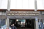 The Tel Aviv Stock Exchange LTD building, in Tel Aviv, Israel.<br /> November 18, 2008<br /> Photo by Ahikam Seri