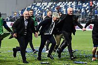 Gian Piero Gasperini of Atalanta and Antonio Percassi president of Atalanta celebrate at the end of the match <br /> Reggio Emilia 26-02-2019 Mapei Stadium <br /> Football Serie A 2018/2019 Atalanta - Sassuolo   <br /> Foto Daniele Buffa/ Image Sport / Insidefoto