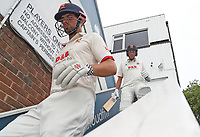 Sir Alastair Cook and Matt Quinn of Essex descend the players stairs ready to take the field during Essex CCC vs Warwickshire CCC, Specsavers County Championship Division 1 Cricket at The Cloudfm County Ground on 15th July 2019