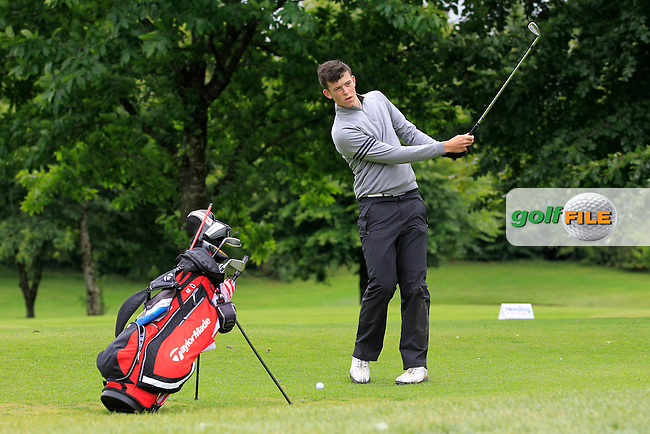 Ryan McKinstry (Cairndhu) on the 2nd during round 1 of The Mullingar Scratch Cup in Mullingar Golf Club on Sunday 3rd August 2014.<br /> Picture:  Thos Caffrey / www.golffile.ie