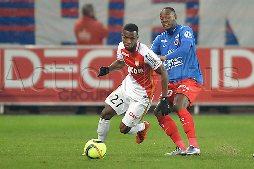 04.03.2016. Caen, France. French League 1 football. Caen versus Monaco.  THOMAS LEMAR (mon) beats HERVE BAZILE (caen)