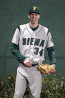February 20, 2010:  Pitcher CJ Sohl (34) of the Siena Saints during the season opener at Melching Field at Conrad Park in DeLand, FL.  Siena defeated Stetson by the score of 8-4.  Photo By Mike Janes/Four Seam Images