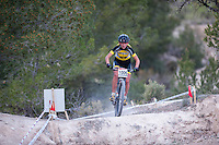 Chelva, SPAIN - MARCH 6: Paula Gorycka during Spanish Open BTT XCO on March 6, 2016 in Chelva, Spain