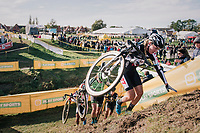 Annemarie Worst (NED/Steylaert-777) leading the race<br /> <br /> Superprestige Ruddervoorde 2018 (BEL)