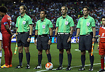 22 July 2015: Match Officials. From left: Assistant Referee Daniel Belleau (CAN), Fourth Official Joel Aguilar (SLV), Referee Mark Geiger (USA), Assistant Referee Philippe Briere (CAN). The Panama Men's National Team played the Mexico Men's National Team at the Georgia Dome in Atlanta, Georgia in a 2015 CONCACAF Gold Cup semifinal match. Mexico won the game 2-1 after extra time.