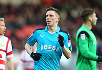 Ashley Hunter of Fleetwood Town during the Sky Bet League 1 match between Doncaster Rovers and Fleetwood Town at the Keepmoat Stadium, Doncaster, England on 17 February 2018. Photo by Leila Coker / PRiME Media Images.