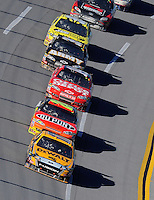Nov. 1, 2009; Talladega, AL, USA; NASCAR Sprint Cup Series driver Matt Kenseth (17) leads Jeff Gordon (24) and Tony Stewart (14) during the Amp Energy 500 at the Talladega Superspeedway. Mandatory Credit: Mark J. Rebilas-