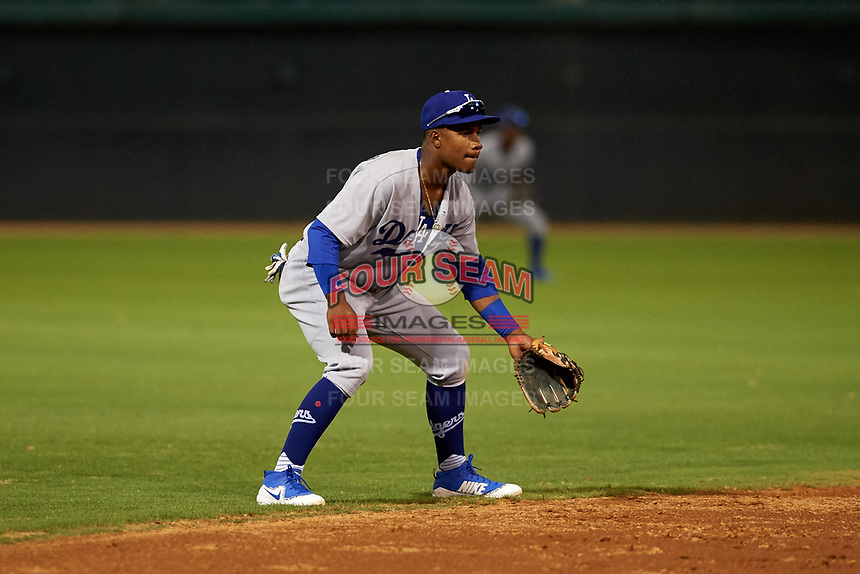AZL Dodgers Lasorda shortstop Eddys Leonard (51) during an Arizona League game against the AZL White Sox at Camelback Ranch on June 18, 2019 in Glendale, Arizona. AZL Dodgers Lasorda defeated AZL White Sox 7-3. (Zachary Lucy/Four Seam Images)
