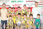 Currow NS team that won the Senior NS Boys B Final at the 2008 St Mary's Christmas blitz in Castleisland Community Centre on Tuesday front row l-r Jerimiah Sullivan, Eamon O'Connor, Shane Collier, Garrett O'Connor, Tomas Fleming. Back row: PJ Hilliard, John McMahon, Ben O'Rourke, Niall Reidy, Jack O'Sullivan, Cian Dennehy and Tom Fleming coach