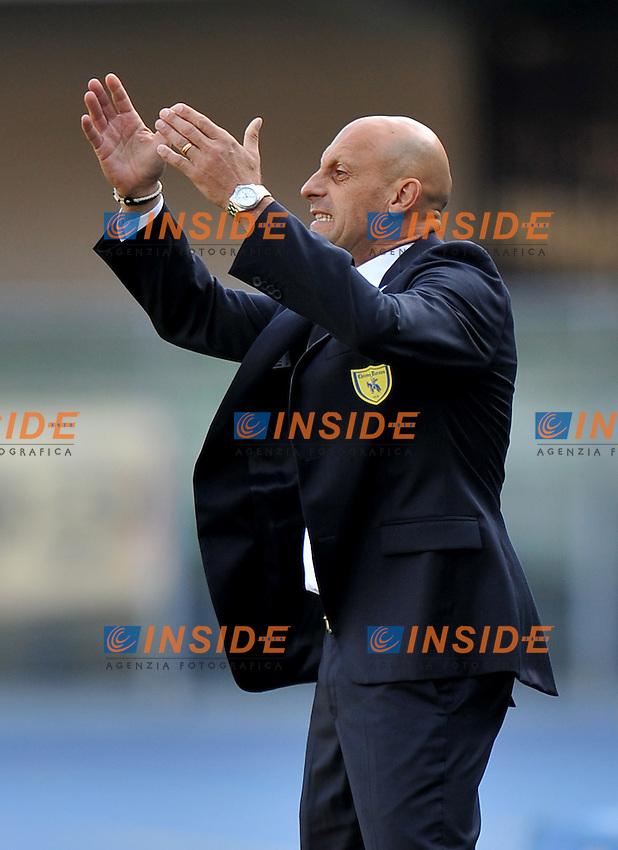 """Domenico DI CARLO (Chievo Verona).Verona 16/10/2011 Stadio """"Marcantonio Bentegodi"""".Serie A 2011/2012.Football Calcio Chievo Verona Vs Juventus.Foto Insidefoto Alessandro Sabattini."""
