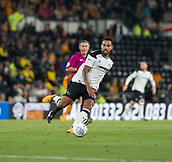 8th September 2017, Pride Park Stadium, Derby, England; EFL Championship football, Derby County versus Hull City; Tom Huddlestone of Derby County passing the ball