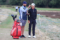 Joakim Lagergren (SWE) on the 2nd during Round 2 of the Sky Sports British Masters at Walton Heath Golf Club in Tadworth, Surrey, England on Friday 12th Oct 2018.<br /> Picture:  Thos Caffrey | Golffile<br /> <br /> All photo usage must carry mandatory copyright credit (&copy; Golffile | Thos Caffrey)