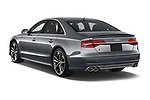 Car pictures of rear three quarter view of a 2018 Audi S8 Plus quattro Tiptronic 4 Door Sedan angular rear