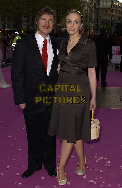 """MARTIN FREEMAN & GUEST.""""Confetti"""" world premiere at Vue West End, London, UK..May 3rd, 2006.Ref: CAN.full length brown black suit dress.www.capitalpictures.com.sales@capitalpictures.com.©Capital Pictures"""