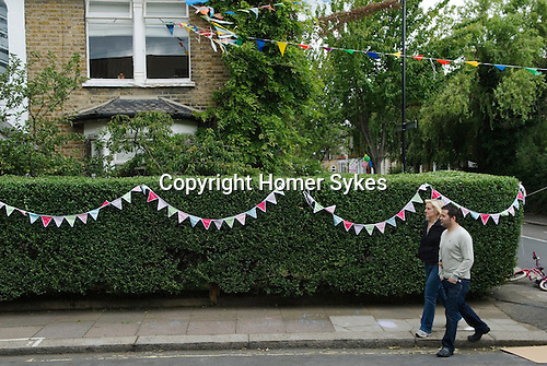 Street Party. The Big Lunch. Brunswick Street, Walthamstow Village, London E17 England 2009.