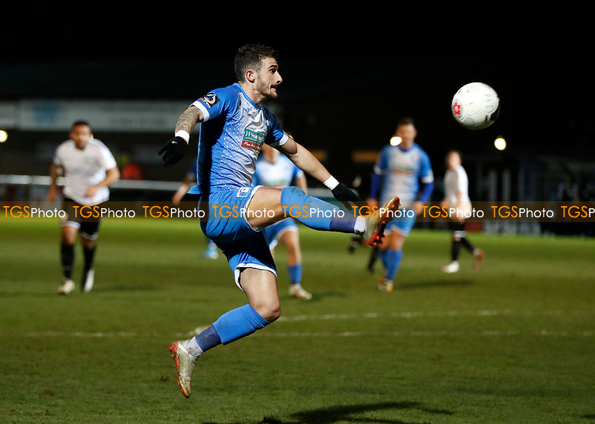 Brad Barry in action for Barrow during Dover Athletic vs Barrow, Vanarama National League Football at the Crabble Athletic Ground on 4th February 2020