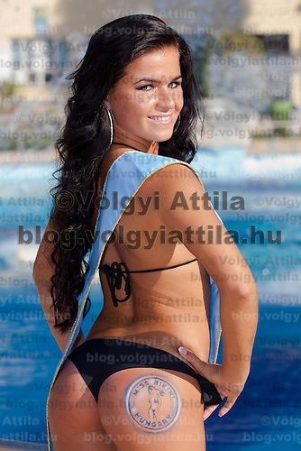 Eliza Lévai was awarded for the most beautiful butt during the Miss Bikini Hungary beauty contest held in Budapest, Hungary. Sunday, 29. August 2010. ATTILA VOLGYI