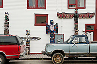 Totems and trucks , Skagway, AK, Alaska, USA
