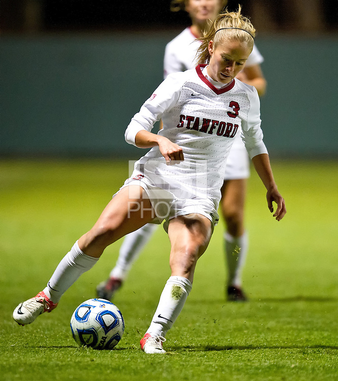 STANFORD, CA - November 9, 2012: Stanford vs Idaho St. University in a women's soccer match in Stanford, California. Final score, Stanford 3, Idaho State University 0.
