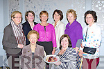 Enjoying the Killarney Soroptimist fundraiser in the Dromhall Hotel Killarney on Tuesday afternoon were Anne O'Connor, Teresa Irwin President. Back row: noeleen O'Sullivan, Bernadette Randles, Anne Wrenn, Margaret Scally, Eileen Foley and Catherine McMullen