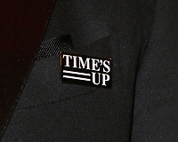 LOS ANGELES - JAN 7:  Time's Up Emblem at the HBO Post Golden Globe Party 2018 at Beverly Hilton Hotel on January 7, 2018 in Beverly Hills, CA