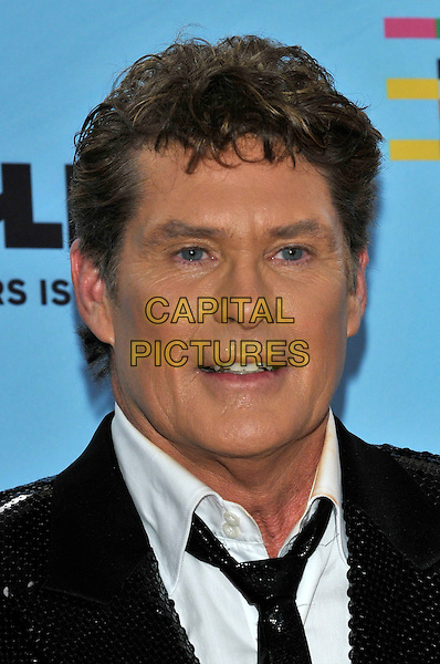 DAVID HASSELHOFF .during the MTV Europe Music Awards 2009 at the O2 World Arena in Berlin, Germany, November 5th 2009..arrivals EMA EMAs portrait headshot black tie white sequin sequined .CAP/PL.©Phil Loftus/Capital Pictures