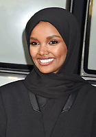 """SANTA MONICA, CA - AUGUST 27: Halima Aden attends the Travis Scott: """"Look Mom I Can Fly"""" Los Angeles Premiere at The Barker Hanger on August 27, 2019 in Santa Monica, California.<br /> CAP/ROT/TM<br /> ©TM/ROT/Capital Pictures"""