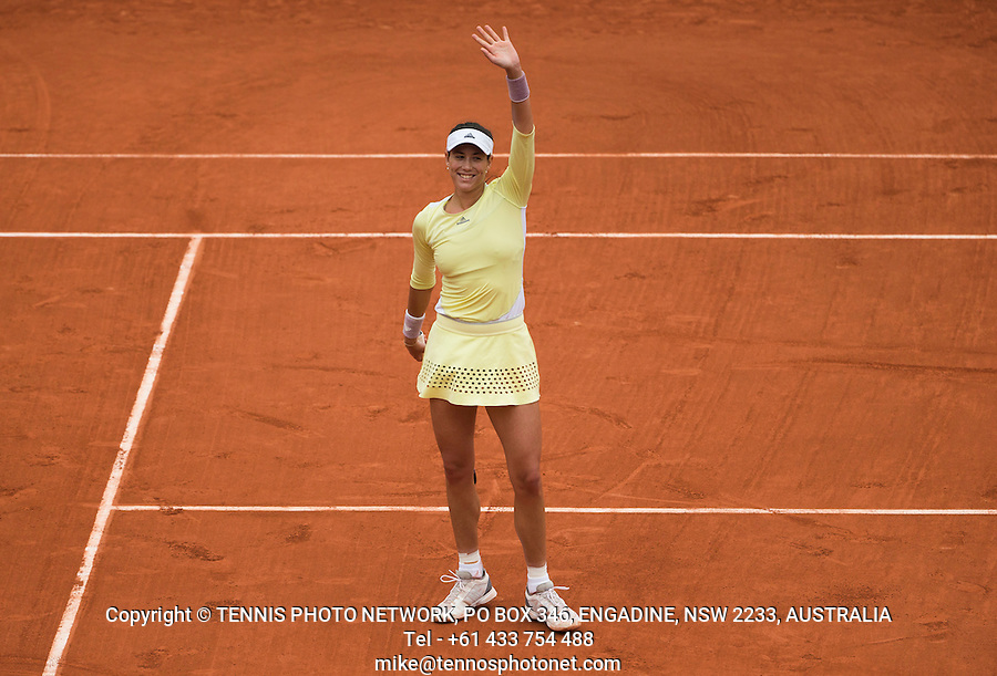 GARBI&Ntilde;E MUGURUZA (ESP)<br /> <br /> TENNIS - FRENCH OPEN - ROLAND GARROS - ATP - WTA - ITF - GRAND SLAM - CHAMPIONSHIPS - PARIS - FRANCE - 2016  <br /> <br /> <br /> <br /> &copy; TENNIS PHOTO NETWORK