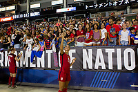 Carson, CA - Thursday August 03, 2017: Lynn Williams, Fans during a 2017 Tournament of Nations match between the women's national teams of the United States (USA) and Japan (JAP) at StubHub Center.