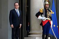 Paris (75),Le President de la Republique, Franeois HOLLANDE, recoit samedi 25 juin 2016 les representants des partis politiques francais au Palais de l Elysee.