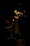 Members of Palestinian band Rasael Theatre perform during the Nablus Festival of Culture and Arts, in the West Bank city of Nablus, on April 17, 2018. Photo by Shadi Jarar'ah