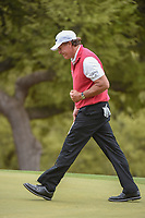 Phil Mickelson (USA) follows his eagle putt in on 6 during day 3 of the World Golf Championships, Dell Match Play, Austin Country Club, Austin, Texas. 3/23/2018.<br /> Picture: Golffile | Ken Murray<br /> <br /> <br /> All photo usage must carry mandatory copyright credit (&copy; Golffile | Ken Murray)