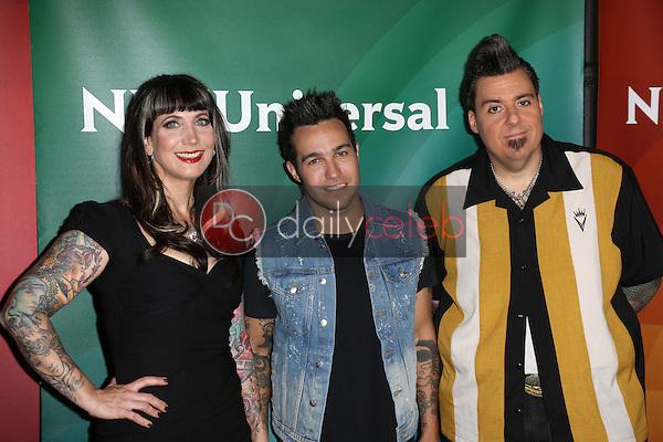 Hannah Aitchison, Pete Wentz and Joe Capobianco<br /> at the 2013 NBC Universal Summer Press Day , Langham Huntington Hotel, Pasadena, CA 04-22-13<br /> David Edwards/Dailyceleb.com 818-249-4998