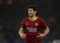 Football, Serie A: AS Roma - Bologna FC, Olympic stadium, Rome, February 18, 2019. <br /> Roma's Federico Fazio celebrates after scoring during the Italian Serie A football match between AS Roma and Bologna FC at Olympic stadium in Rome, on February 18, 2019.<br /> UPDATE IMAGES PRESS/Isabella Bonotto