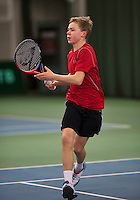 Rotterdam, The Netherlands, March 20, 2016,  TV Victoria, NOJK 14/18 years, Lodewijk Weststrate (NED<br /> Photo: Tennisimages/Henk Koster