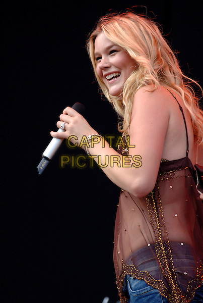JOSS STONE.V Festival 2005, Hylands Park.Chelmsford, Essex, England, UK.August 21st, 2005.virgin music live on-stage stage performing v-festival v2005 concert live gig performance half length brown sheer sequin top see through see thru singing.www.capitalpictures.com.sales@capitalpictures.com.©Capital Pictures.NATASHA BEDINGFIELD.V Festival 2005, Hylands Park.Chelmsford, Essex, England, UK.August 21st, 2005.virgin music live on-stage stage performing v-festival v2005 concert live gig performance half length sequin hat pearl necklace knotted tied white cardigan shrug belly stomach midriff singing.www.capitalpictures.com.sales@capitalpictures.com.©Capital Pictures