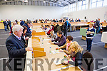 Dan Kiely at the Local Election recount at John Mitchells GAA hall on Wednesday.