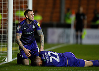 Tranmere Rovers' Mark Ellis checks on Kane Wilson<br /> <br /> Photographer Alex Dodd/CameraSport<br /> <br /> The EFL Sky Bet League One - Blackpool v Tranmere Rovers - Tuesday 10th March 2020 - Bloomfield Road - Blackpool<br /> <br /> World Copyright © 2020 CameraSport. All rights reserved. 43 Linden Ave. Countesthorpe. Leicester. England. LE8 5PG - Tel: +44 (0) 116 277 4147 - admin@camerasport.com - www.camerasport.com