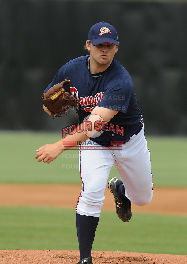 July 15, 2009: LHP Chris Masters (30) of the Danville Braves, rookie Appalachian League affiliate of the Atlanta Braves, before a game at Dan Daniel Memorial Park in Danville, Va. Photo by:  Tom Priddy/Four Seam Images
