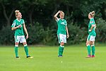 02.08.2020, wohninvest Weserstadion Platz 12, Bremen, GER,FSP, FLYERALARM, FFBL SV Werder Bremen vs  SV Henstedt-Ulzburg, <br /> <br /> <br /> <br />  im Bild<br /> <br /> <br /> Jasmin Sehan (WerderBremen15)<br /> Michelle Ulbrich (WerderBremen5)<br /> Verena Volkmer (WerderBremen10)<br /> <br /> Foto © nordphoto / Kokenge