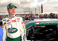 Apr 26, 2008; Talladega, AL, USA; NASCAR Sprint Cup Series driver Dale Earnhardt Jr during qualifying for the Aarons 499 at Talladega Superspeedway. Mandatory Credit: Mark J. Rebilas-