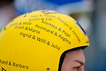 BROTTERODE, GERMANY - FEBRUARY 17: Helmet of Thomas Diethart of Austria (AUT) at the final round of the FIS Continental Cup at the Inselbergschanze on February 17, 2013 in Brotterode, Germany. (Photo by Dirk Markgraf)