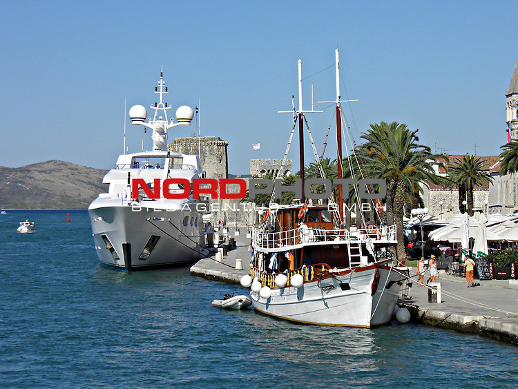 31.07.2013.,Trogir, Croatia - Bernie Ecclestone with his third wife, the Brazilian Fabini and friends arrived with their yachts  Petara to berth in Trogir port. <br /> <br /> Foto &not;&copy;  nph / Halopix