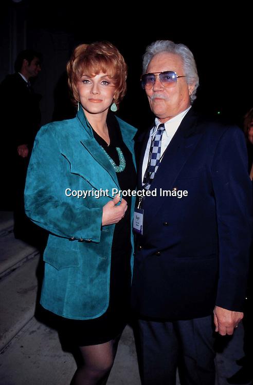 "©KATHY HUTCHINS/HUTCHINS.1/12/98 "" CBS WINTER PRESS TOUR "".ANN MARGRET & HUSBAND ROGER"