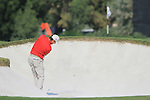 Padraig Harrington plays out of a fairway bunker on the 15th hole during the Final Day of the Dubai World Championship, Earth Course, Jumeirah Golf Estates, Dubai, 28th November 2010..(Picture Eoin Clarke/www.golffile.ie)
