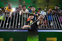 8th November 2019; Optus Stadium, Perth, Western Australia Australia; T20 Cricket, Australia versus Pakistan; Steve Smith of Australia takes a selfie with a fan after the match - Editorial Use