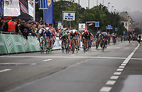 bunch sprint to the finish line<br /> <br /> Brussels Cycling Classic 2015