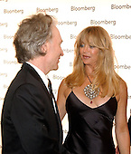 Talk show host Bill Maher, left, and Goldie Hawn, right, share some thoughts as they arrive for the Bloomberg party following the 2005 White House Correspondents Dinner in Washington, D.C. on April 30, 2005..Credit: Ron Sachs / CNP.(RESTRICTION: No New York Metro or other Newspapers within a 75 mile radius of New York City)